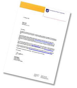 UniSA - Letter of offer