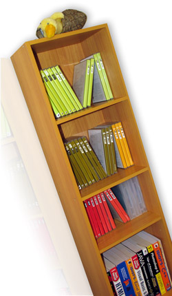 Bookcase with Les Mills DVD's