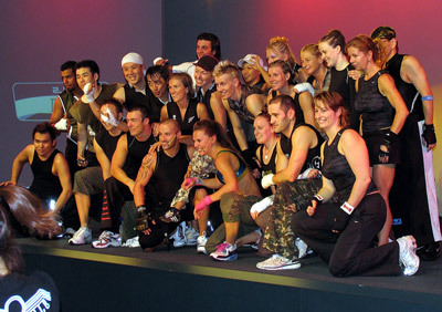 Instructors with D&R after the BODYCOMBAT 33 filming