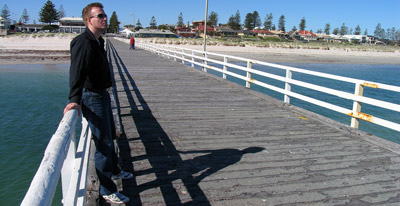 Alex on the jetty