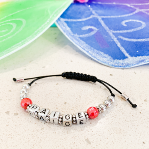 Girls Silver Name Bracelet
